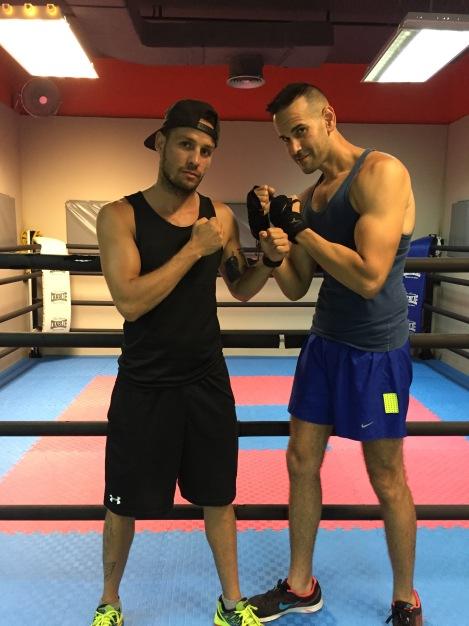 Entrenando Boxeo con mi entrenador, el Campeón King Daluz ;)