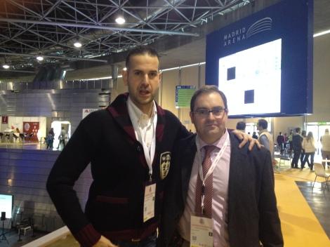 Con mi jefe Félix en Cybercamp 2014