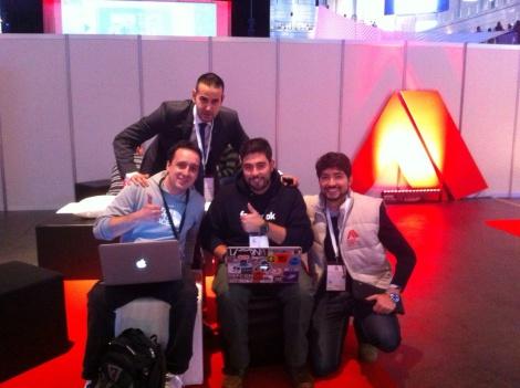 Con Fermín Serna, Javier Marcos y Raúl Riesco en Cybercamp