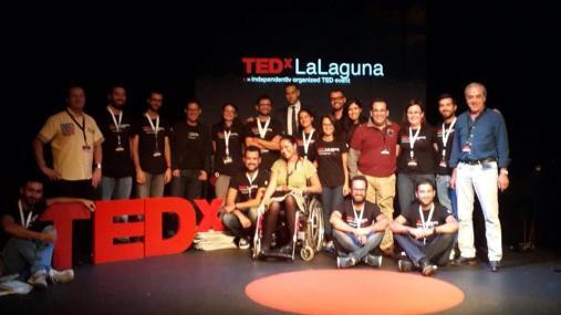 El pedazo equipo de TEDxLaLaguna