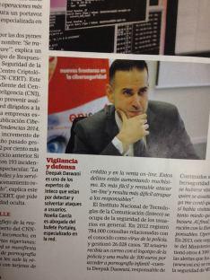 Reportaje sobre Ciberseguridad en Interviú