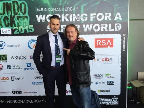 Con Antonio Ramos en Mundo Hacker Day