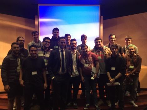 Con los alumnos en el Congreso de Estudiantes de la ETSII