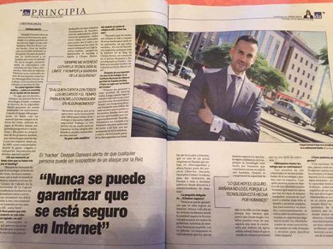 Entrevista en Diario de Avisos por Verónica Jiménez
